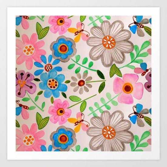 The Garden 2 Art Print