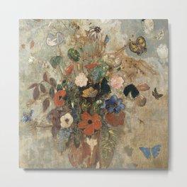 Odilon Redon - Still Life with Flowers Metal Print