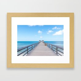 On the Pier Framed Art Print