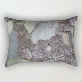 sycamore bark with a green tinge Rectangular Pillow