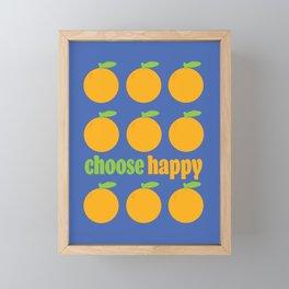 CHOOSE HAPPY - ORANGE GROVE Framed Mini Art Print