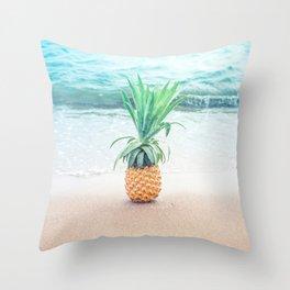 Happy Pineapple Throw Pillow
