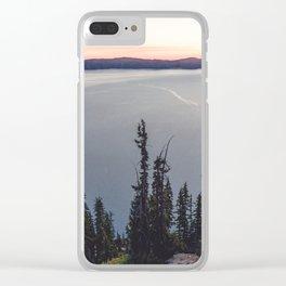 Lakeside Sunrise Clear iPhone Case
