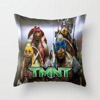 ninja turtles Throw Pillows featuring ninja turtles  by custompro