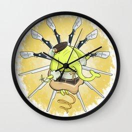 Tea Trunks Wall Clock