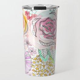 Pastel Roses Travel Mug