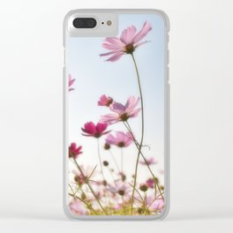Pink Cosmos Clear iPhone Case