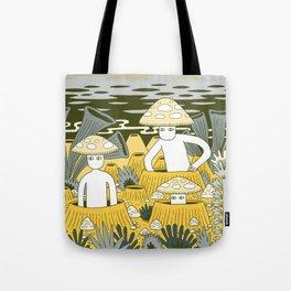 Mushroom Men Tote Bag