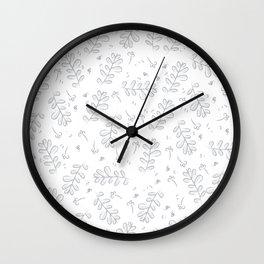 Monocrome Vines Wall Clock