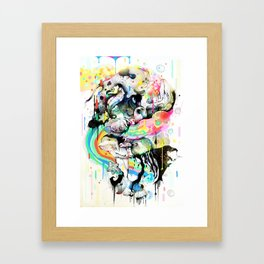 Ink Fight Colors Framed Art Print