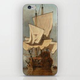 """Willem van de Velde II (Dutch Golden Age) """"Het Kanonschot (The Cannon Shot)"""" iPhone Skin"""