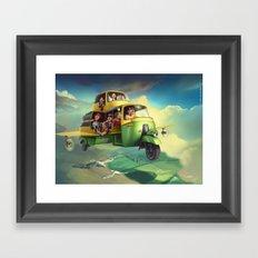 Indian Safari Framed Art Print