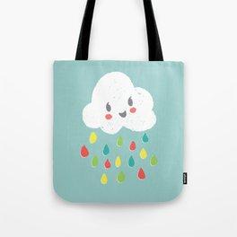Rainbow Rain - Bright Tote Bag