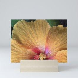 Orange Hibiscus Ruffle Mini Art Print