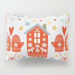 Laplander Winter Holiday Pillow Sham