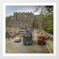 edinburgh Art Prints featuring Edinburgh by Peaky40