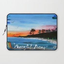 """PEACEFUL LIVING""  Laptop Sleeve"