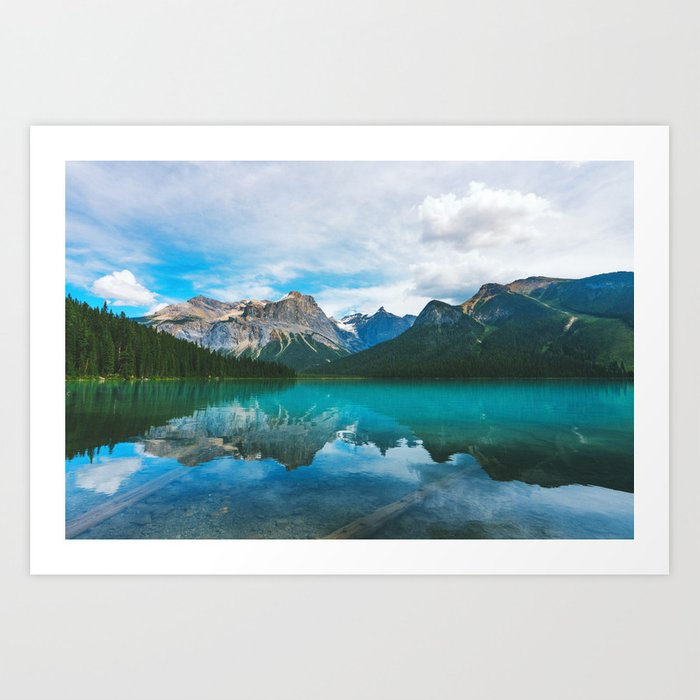 The Mountains and Blue Water - Nature Photography Kunstdrucke