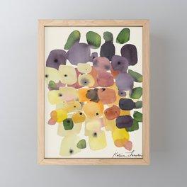 Watercolor Modern Organic Abstract Art Framed Mini Art Print