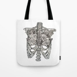 anatomy of an artist, between two lungs Tote Bag