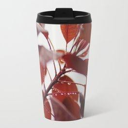 Red leaves in a London Fog by Diana Eastman Travel Mug