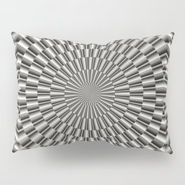 High tech silver metal surface Pillow Sham