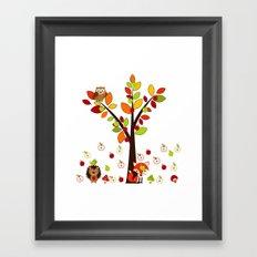 Rain Apples Framed Art Print