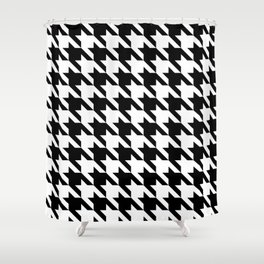 Classic Houndstooth Shower Curtain
