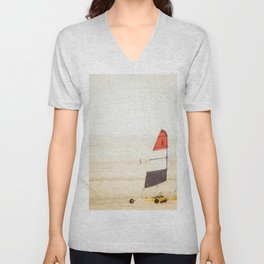 Sand yachting trio Unisex V-Neck