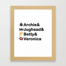 Riverdale Names Framed Art Print