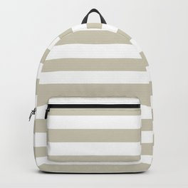 Beach Sand and White Stripes Backpack