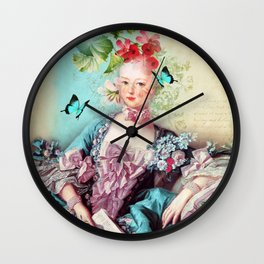 Madame butterfly Wall Clock