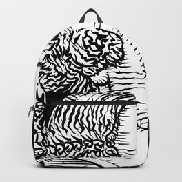 BLAISE PASCAL ink portrait Backpack