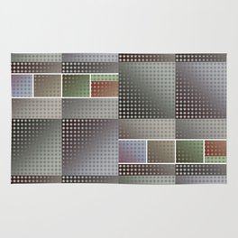 Abstract Collage Pattern Rug