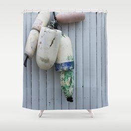 Amagansett Buoys Shower Curtain