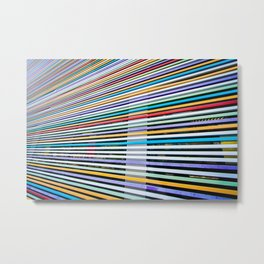 Colored Lines On The Wall Metal Print
