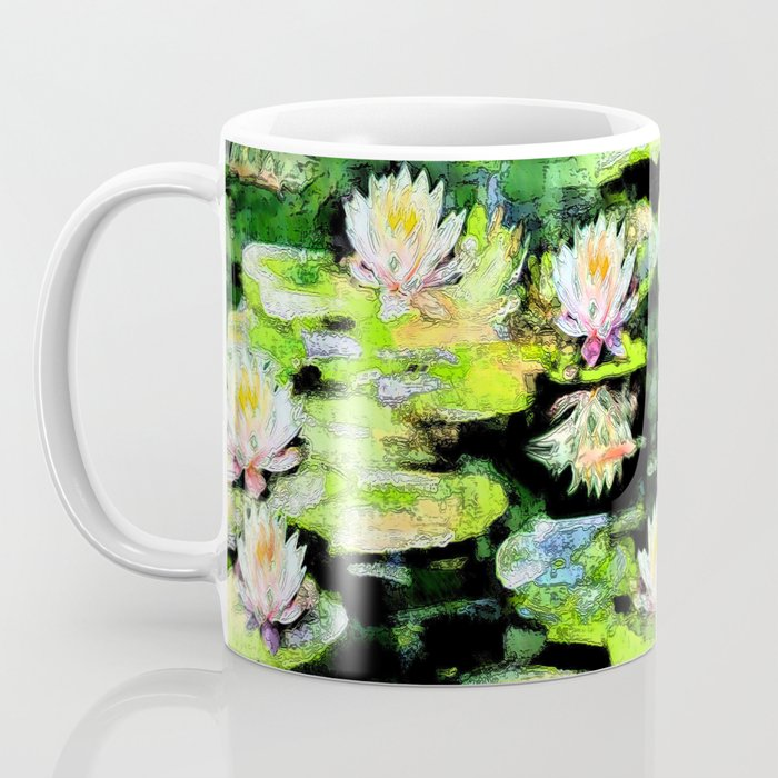 Eight Waterlilies Coffee Mug