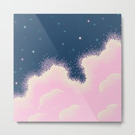 Pixel Cotton Candy Galaxy Metal Print