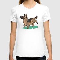 german shepherd T-shirts featuring Chibi German Shepherd by Ashdoun