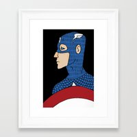 captain Framed Art Prints featuring Captain by nu boniglio