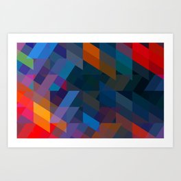 Obscured. Art Print