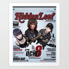 hidden leaf magazine Art Print