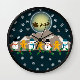 My Childhood's Christmas Wall Clock