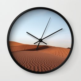 Fine Desert Structures in the Sahara Desert in Morocco Art Print | Travel Photography Wall Clock