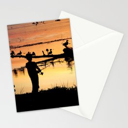 Little Boy Fishing Stationery Cards