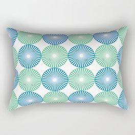 Blue and green circles pattern Rectangular Pillow