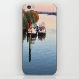 Boats on th Seine iPhone Skin