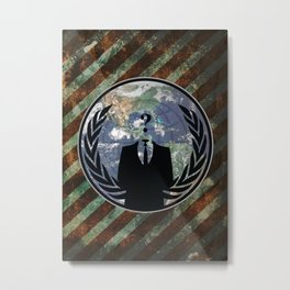 World Wide Anonymous Metal Print