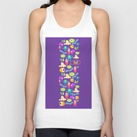 monsters Tank Tops featuring monsters by Ceren Aksu Dikenci