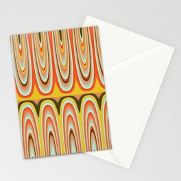 Gold, Orange, Blue Pattern Stationery Cards